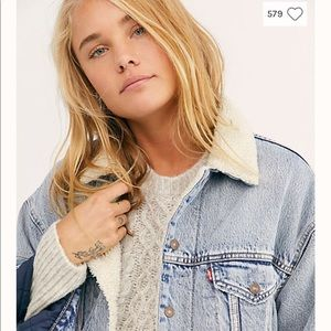 Free People Levi's Dad Sherpa Trucker Jacket 🌝